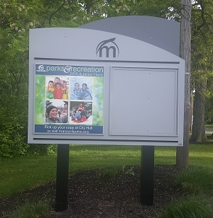 Photo of community sign