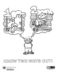 Two Ways Out Coloring Page