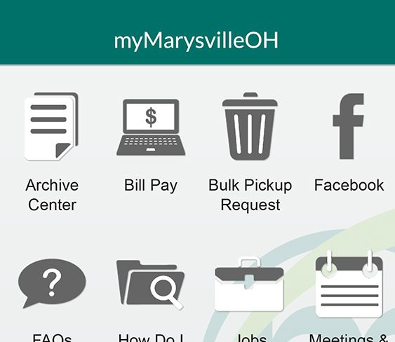 myMarysvilleOH App Screen