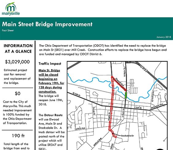 Main St Bridge Fact Sheet