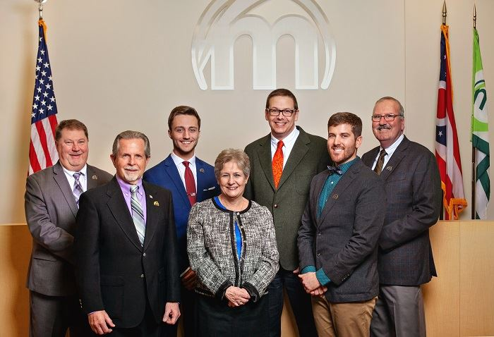 Photo of seven City Council members
