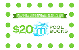 Image of 20 dollars pool bucks gift card