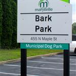 Photo of dog park sign