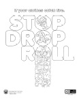 It is a photo of Sizzling Stop Drop And Roll Coloring Page